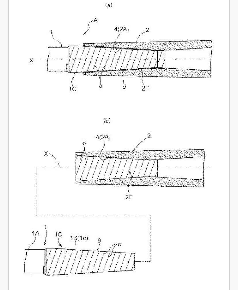 スクリューロックジョイントの特許?