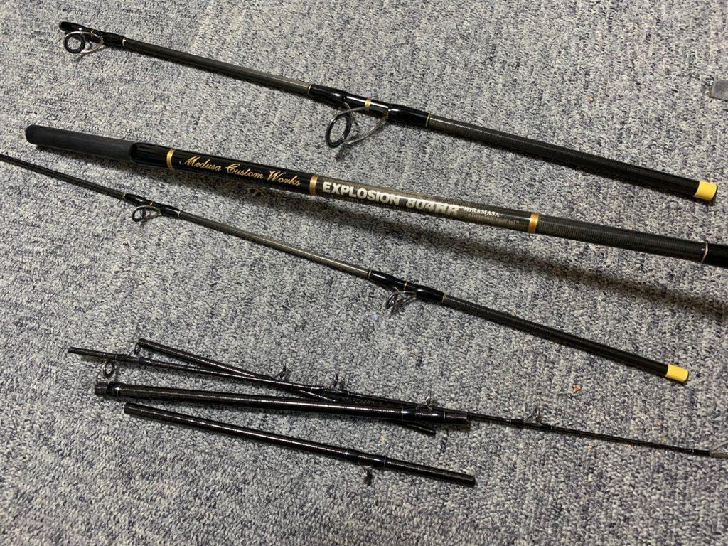 今回はスコーピオンシャウラの折れ竿、旧ハートランドのソリッドモデルの折れ竿を芯材に使用